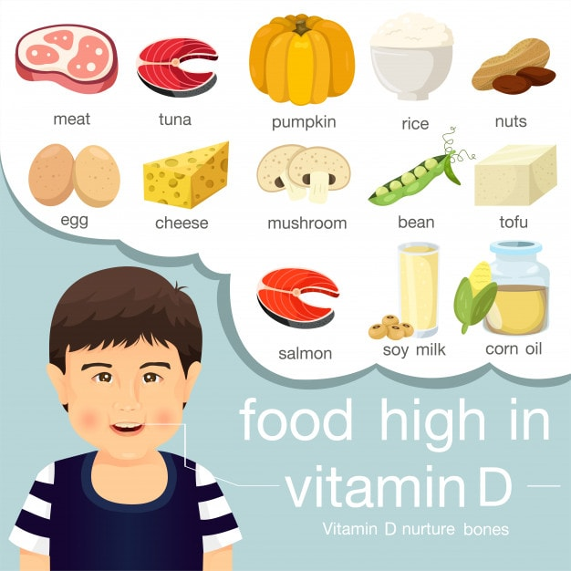 Food rich in Vitamin D